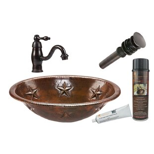 Budget Star Metal Oval Drop-In Bathroom Sink with Faucet By Premier Copper Products