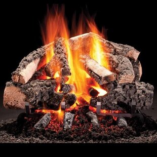 Mt. Vernon Vented Natural Gas/Propane Fireplace Log Set By HargroveGasLogs
