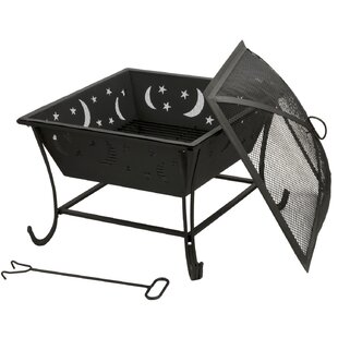 DeckMate Luna Steel Wood Burning Fire Pit
