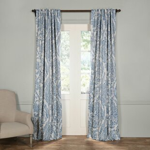 Bryton Paisley Synthetic Room Darkening Thermal Rod Pocket Single Curtain Panel by Three Posts