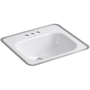 Kohler Tahoe Metal Rectangular Drop-In Bathroom Sink with Overflow