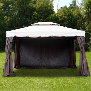 Finola 10 Ft. W x 12 Ft. D Aluminum Patio Gazebo by Beachcrest Home