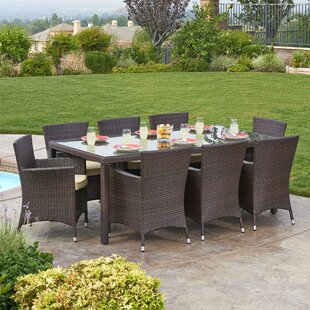 Brayden Studio Kennerdell 9 Piece Patio Set with Cushions