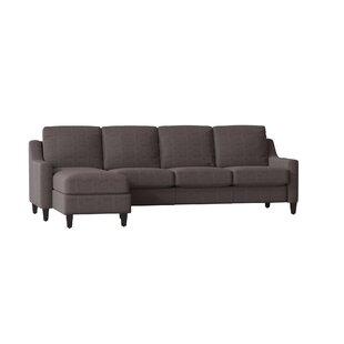 Jesper Leather Sectional by Wayfair Custom Upholstery™