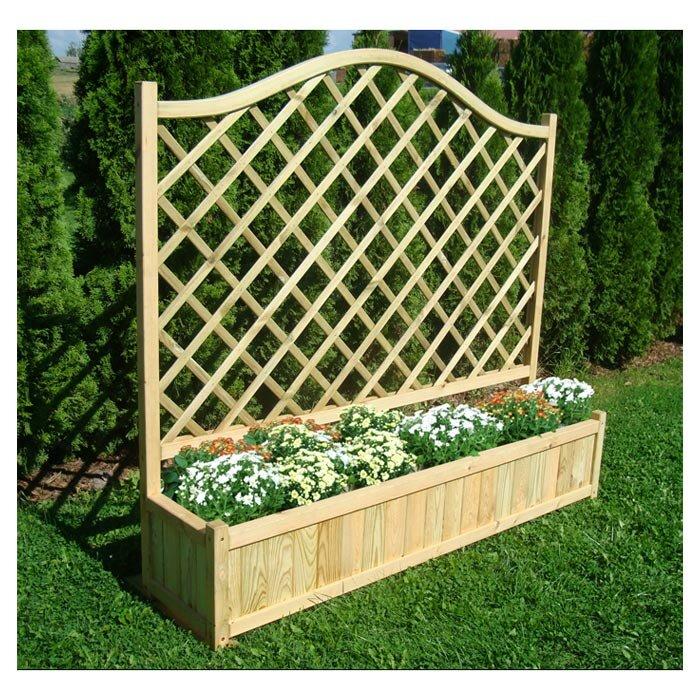 Zest 4 Leisure Planter Box with Trellis & Reviews