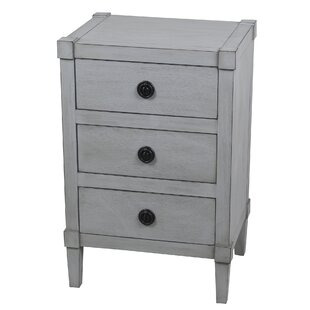 Alexis 3 Drawer End Table by Highland Dunes