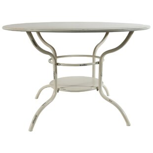 Pate Round Shaped Metal End Table by August Grove