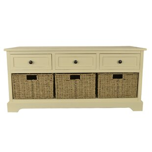 Ardina Wood Storage Bench Beachcrest Home