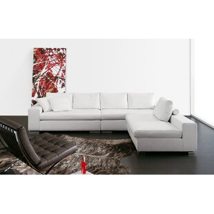 Rogers Leather Reversible Sectional by Respace