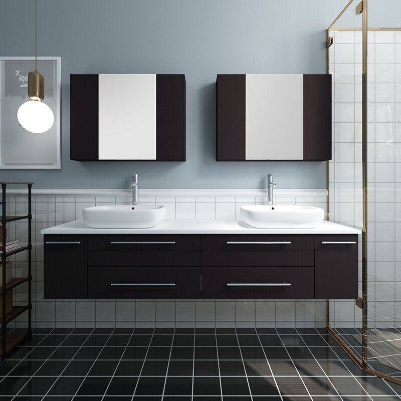 Double Vessel Sink Bathroom Vanity