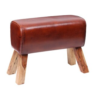 Caramont Leather Stool By Alpen Home