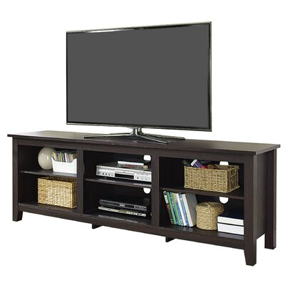 Beachcrest Home Sunbury TV Stand for TVs up to 70 with optional Fireplace Color: Espresso, Fireplace Included: No