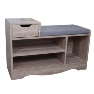 Wooden Storage Bench By 17 Stories