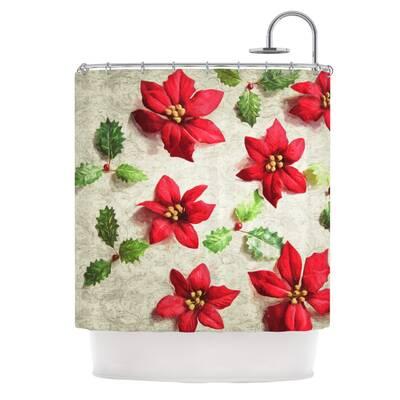 East Urban Home Poinsettia Shower Curtain