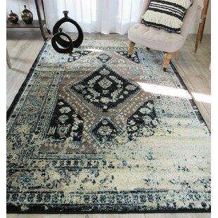 Find for Westling Moroccan Black/Gray Area Rug ByBloomsbury Market