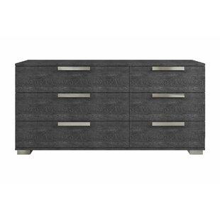 Hampton 6 Drawer Double Dresser by Casabianca Furniture