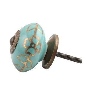 Handpainted Ceramic Drawer Round Knob