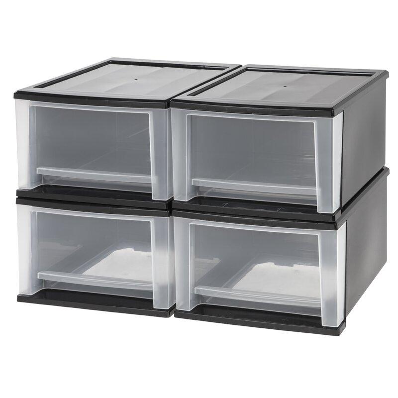 Iris Stacking Plastic 12 05 Storage Drawer Reviews Wayfair