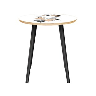Buy clear Black Raven End Table By Bungalow Rose