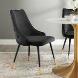 Girardi Velvet Upholstered Side Chair by Mercer41