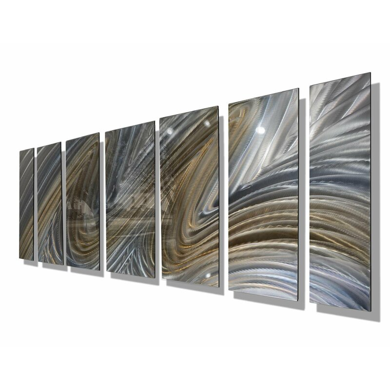 Orren Ellis Heavenly Flight Xl By Jon Allen 7 Piece Painting Print Set On Metal Wayfair