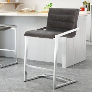 Dugas Microfiber 26 Bar Stool (Set of 2) Orren Ellis