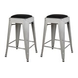 Langston Metal 24 Bar Stool (Set of 2) by Williston Forge