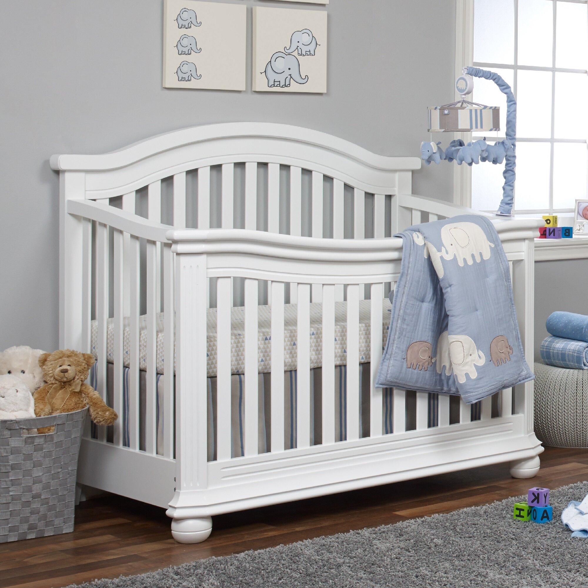 Sorelle vista elite 4-in-1 convertible crib in white | buybuy baby.