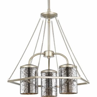Latitude Run Garvin 3-Light Shaded Chandelier