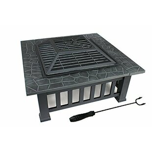 Zeny Steel Wood Burning Fire Pit Table