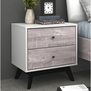Gracie Oaks Laprade 2 Drawer Nightstand