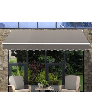 Sunjoy 9.5 ft. W x 9 ft. D Retractable Patio Awning