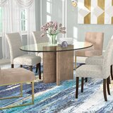 Glass Oval Kitchen & Dining Tables You\'ll Love in 2020   Wayfair