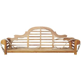 Passarelli Teak Porch Swing by Bloomsbury Market
