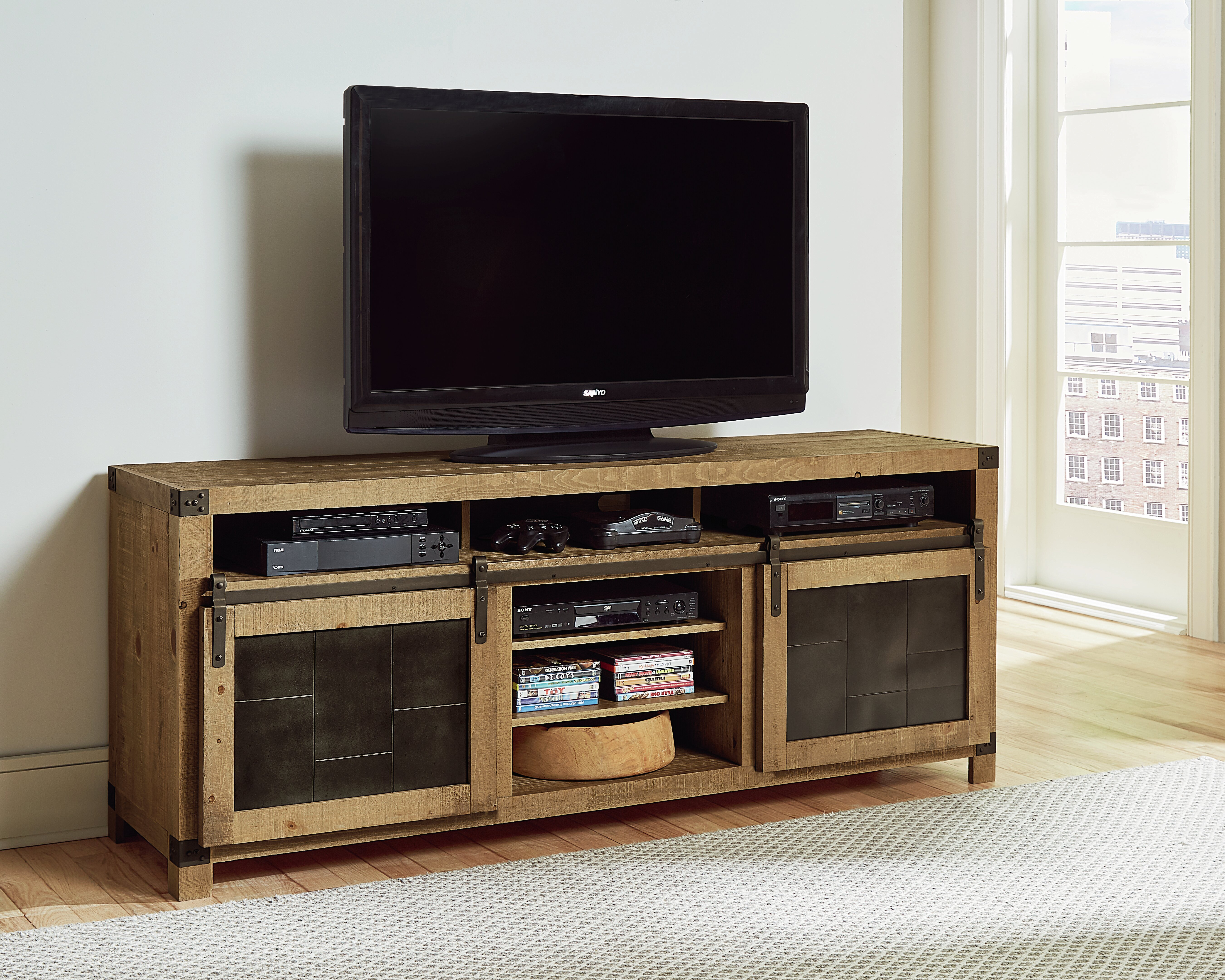Georgie Wood Tv Stand For Tvs Up To 78 Inches Reviews