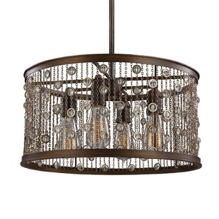 Bungalow Rose Henderson 4-Light Drum Pendant