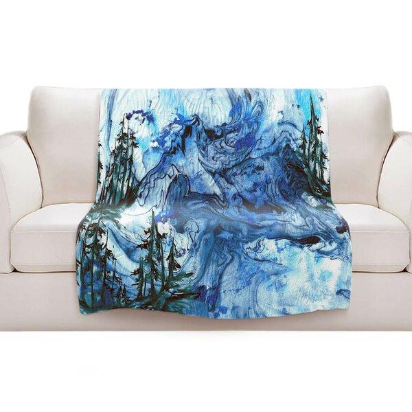 Blue Sherpa Blanket Wayfair