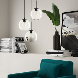 Yearwood 3-Light Cluster Pendant by Mercury Row