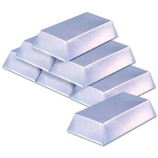 Plastic Silver Bar Disposable Centerpiece