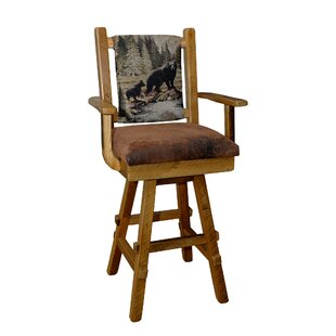 Torney 30 Barnwood Swivel Bar Stool (Set of 2)