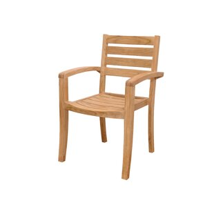 Catalina Stacking Teak Patio Dining Chairs (Set of 4)