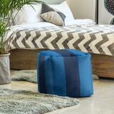 Square Striped Pouf Ottoman by East Urban Home