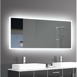 Vanity mirrors with lights youll love wayfair alcalde led bathroomvanity mirror aloadofball Gallery