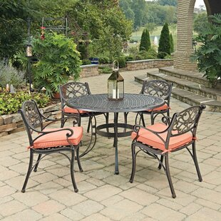 Home Styles Biscayne 5 Piece Dining Set with Cushion