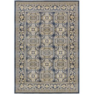 Find a Keeton Navy Blue/Light Yellow Area Rug By Bloomsbury Market