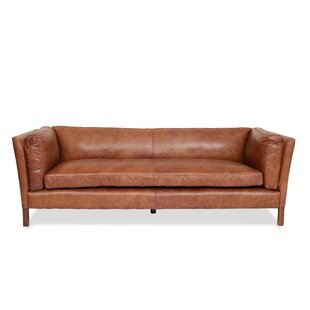 Chappell Leather Sofa by Bungalow Rose