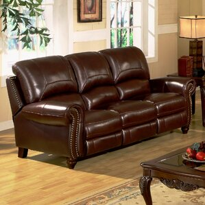 Darby Home Co Kahle Leather Reclining Sofa
