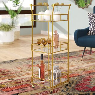 Armando 3 Tier Square Bar Cart by Mistana