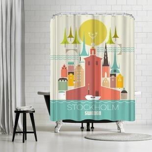 East Urban Home Amanda Shufflebotham Stockholm Sweden Shower Curtain