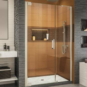 Arizona Shower Door Scottsdale 42 X 72 Hinged Frameless Shower Door With Invisible Shield By Clean X Wayfair